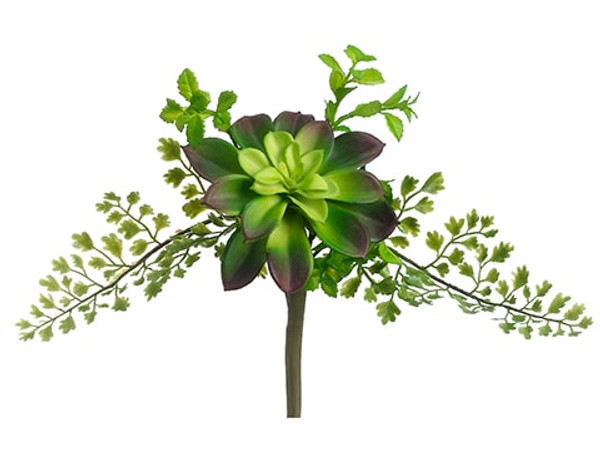 "10"" Succulent/Fern Pick Green (Pack Of 24) CS3928-GR By Silk Flower"