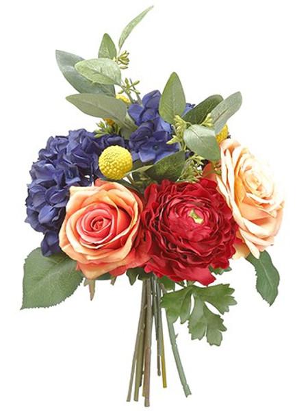 "11"" Mixed Flower Bouquet Slate Terra Cotta FBQ108-SL/TC"