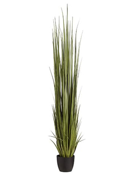 "84"" Reed Grass In Pot Dark Green LQG202-GR/DK By Silk Flower"