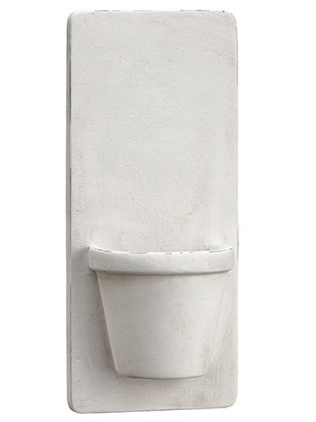 """12.25"""" Cement Wall Planter White XAC949-WH"""