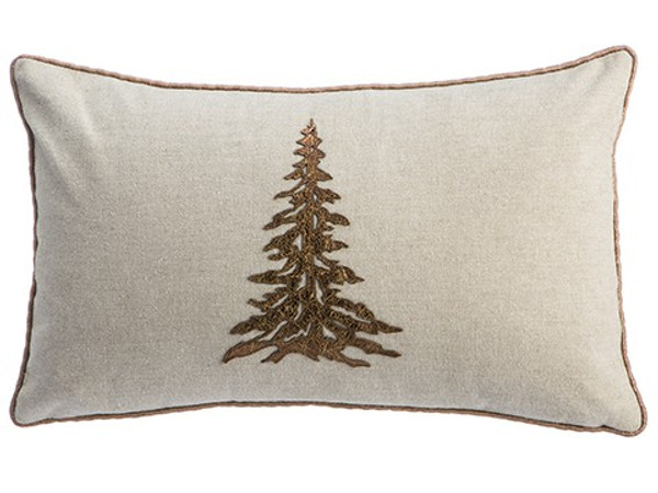 "12""W X 20""L Tree Pillow Bronze Beige (Pack Of 2) XAK024-BZ/BE By Silk Flower"