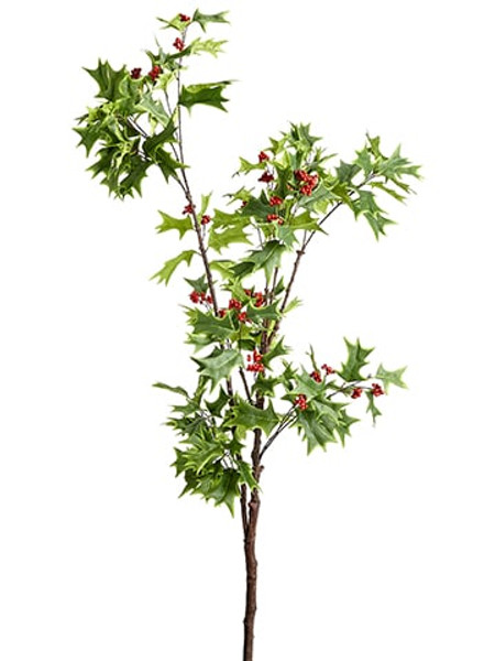 "60"" Holly Berry Branch Green Red (Pack Of 4) XHS035-GR/RE By Silk Flower"