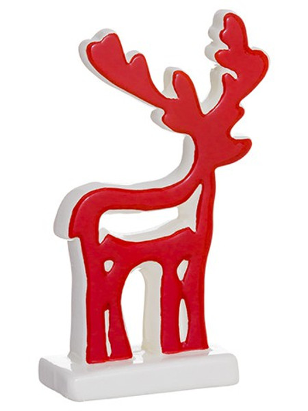 """6.1"""" Reindeer Red White (Pack Of 18) XSI153-RE/WH By Silk Flower"""