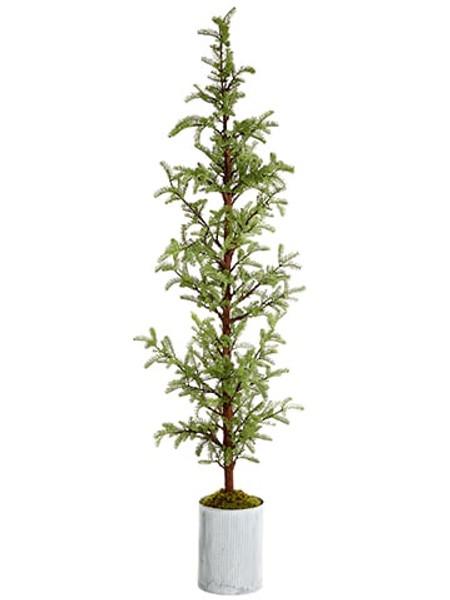 "94"" Pine Tree In Tin Planter Green YTP342-GR By Silk Flower"
