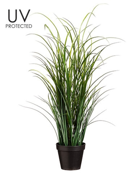 """36"""" Uv Protected Tall Grass In Pot Green (Pack Of 4) LQG061-GR By Silk Flower"""