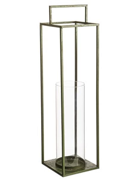 "31""H X 8""W X 8""L Metal/Glass Candleholder Green (Pack Of 4) ACG482-GR By Silk Flower"