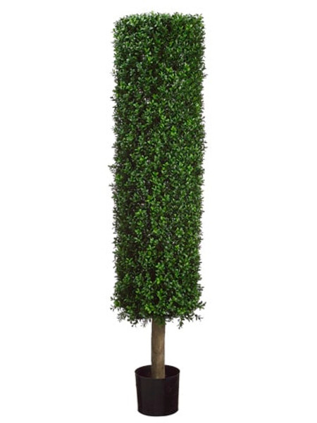 4.5' Round Boxwood Topiary In Plastic Pot Two Tone Green LPB261-GR/TT By Silk Flower