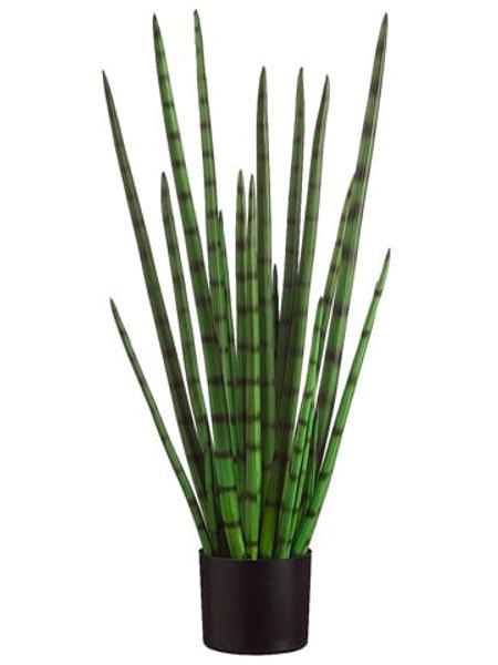 """33"""" Snake Grass In Black Plastic Pot Green (Pack Of 2) LPG723-GR By Silk Flower"""