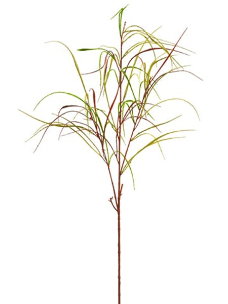 """36"""" Glittered Weeping Willow Spray Red Green (Pack Of 12) XAR842-RE/GR By Silk Flower"""