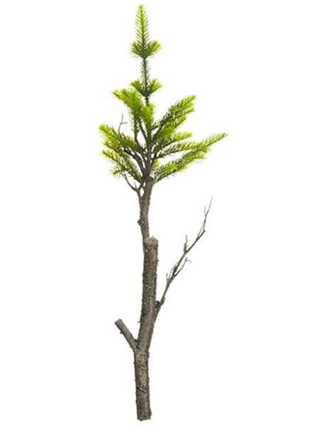 "32"" Pine Hanging Tree Ornament Green (Pack Of 12) XM0066-GR By Silk Flower"