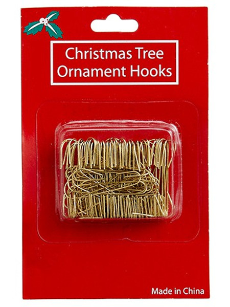"""1.4"""" Ornament Hook (100 Ea/Box) Gold (Pack Of 24) XMZ100-GO By Silk Flower"""