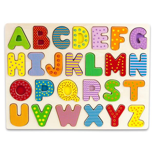 Brybelly TPUZ-301 Professor Poplar'S Wooden Alphabet Puzzle Board