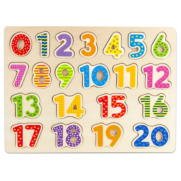 Brybelly TPUZ-303 Professor Poplar'S Wooden Numbers Puzzle Board