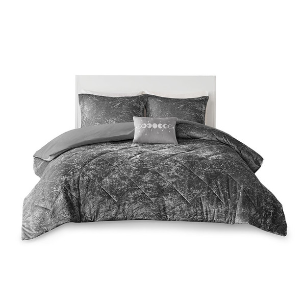 Felicia 100% Polyester Crushed Duvet Cover Set By Intelligent Design ID12-1973