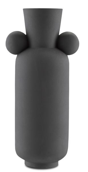 Currey and Company Happy 40 Tall Black Vase 1200-0402