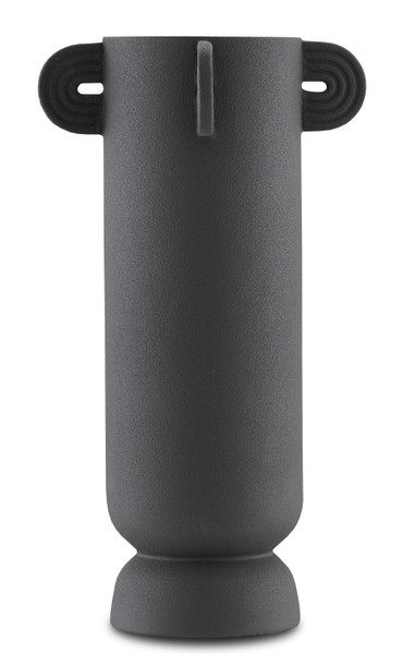 Currey and Company Happy 40 Tube Black Vase 1200-0406