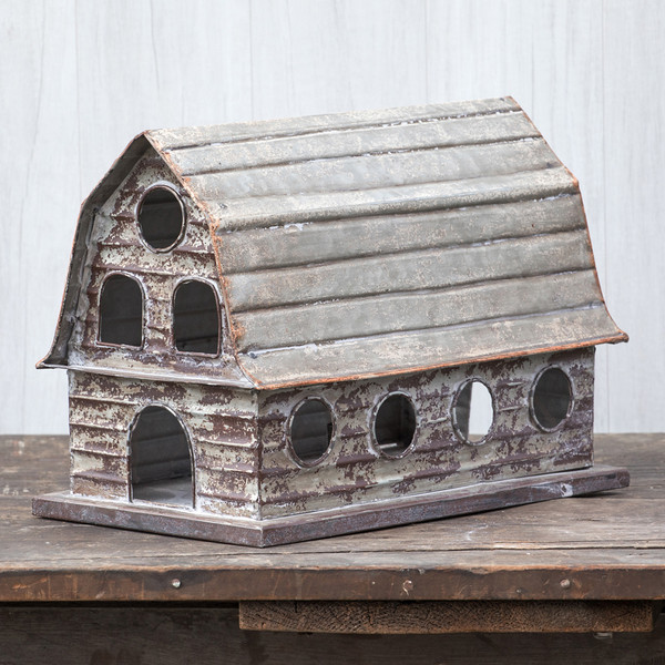Ragon White Barn Birdhouse (Pack Of 2) HY164081