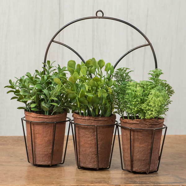 Ragon Set/ 3 Assorted Herbs In Arched Holder (Pack Of 4) OR166293