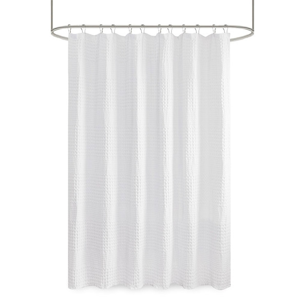 Arlo Super Waffle Textured Solid Shower Curtain MP70-6824A
