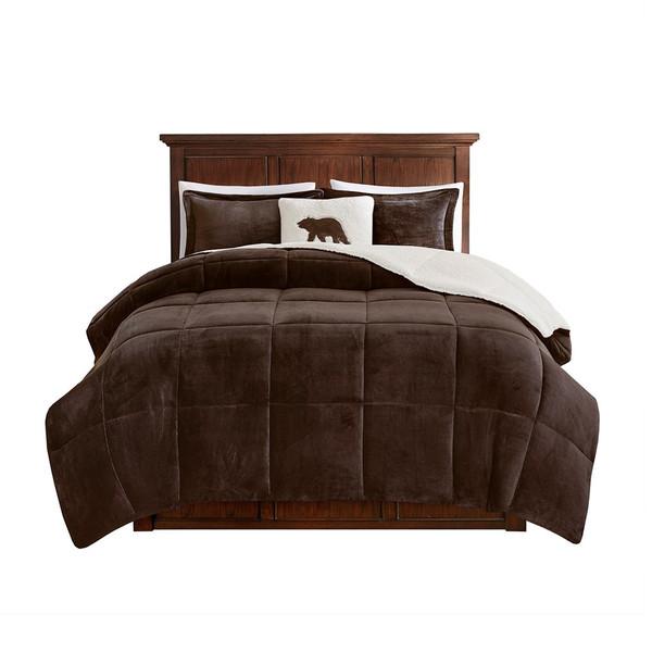 Alton Plush To Sherpa Down Alternative Comforter Set - Twin WR10-2883