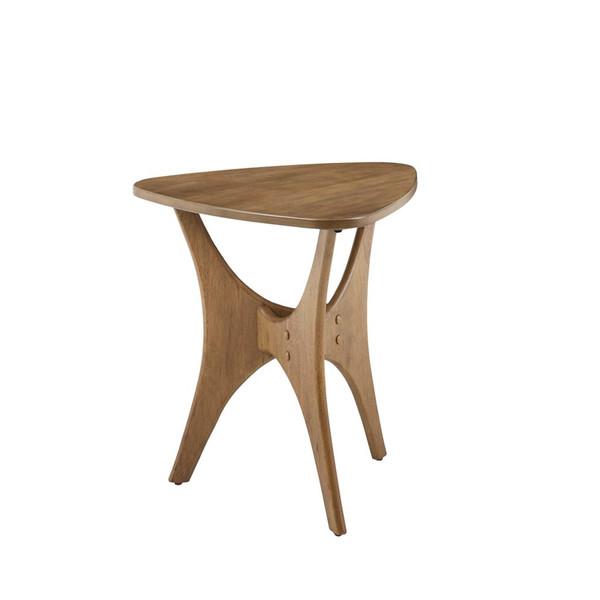 Blaze Triangle Wood End Table II120-0428