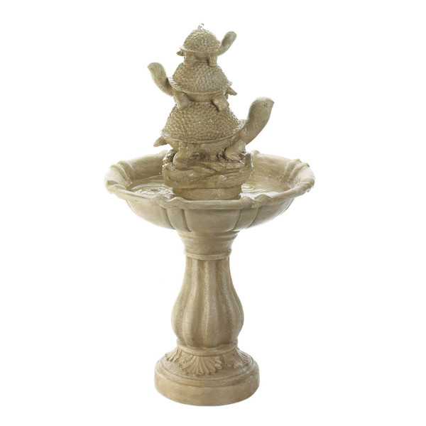 Turtle Trio Stone-Look Garden Fountain 10019040 By AE Wholesale