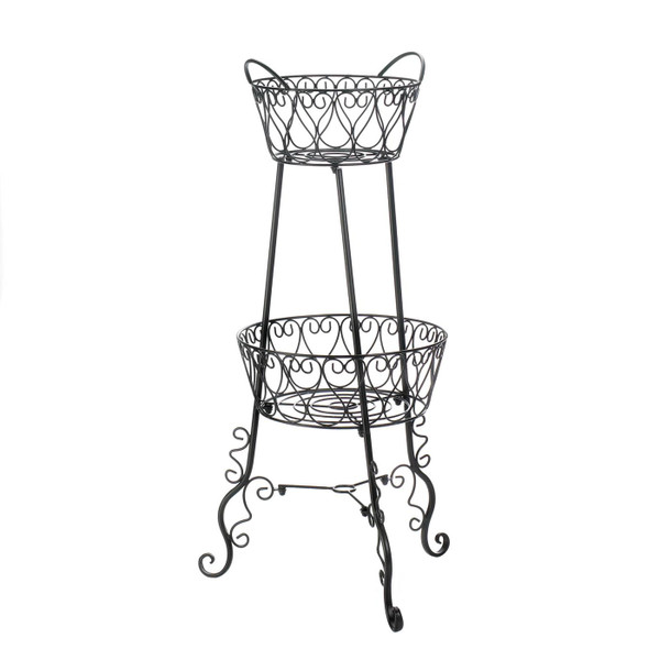 Two-Tier Metal Plant Stand 10018913 By AE Wholesale