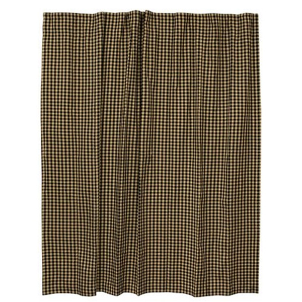 Black Check Shower Curtain G28062 By CWI Gifts
