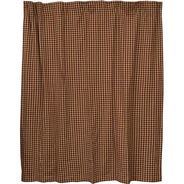 Burgundy Check Shower Curtain G28063 By CWI Gifts