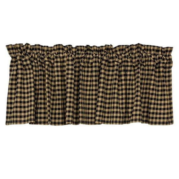 Black Check Valance G28071 By CWI Gifts