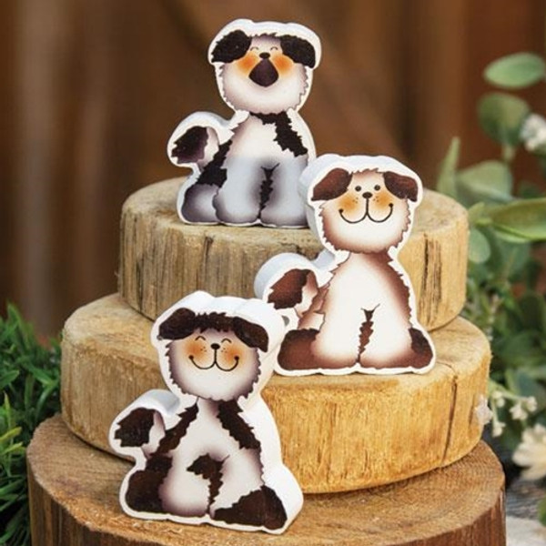 Chunky Fluffy Puppy - 3 Assorted G35300 By CWI Gifts