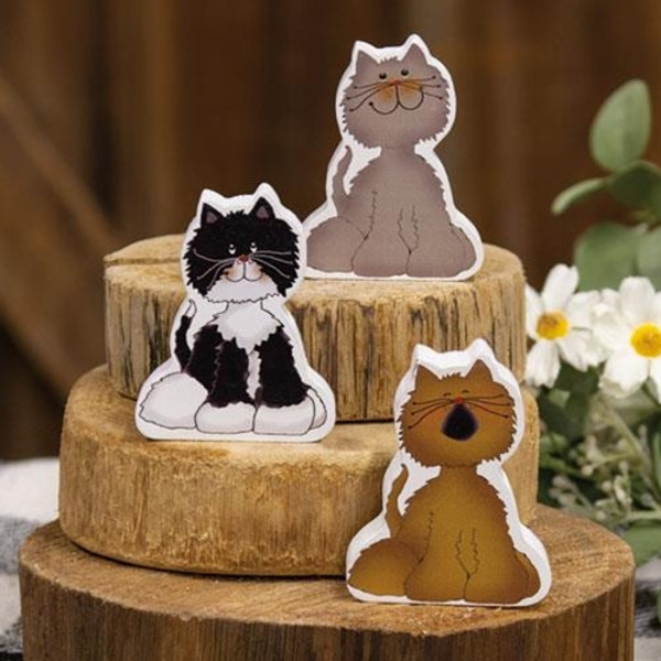Chunky Kitty A - 3 Assorted G35302A By CWI Gifts