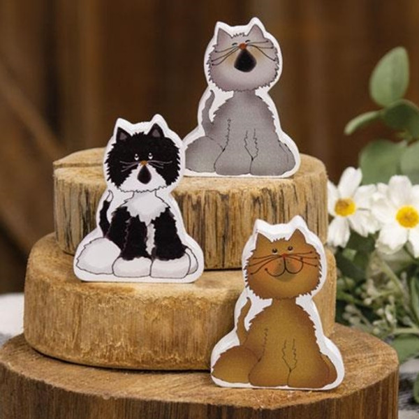Chunky Kitty B - 3 Assorted G35302B By CWI Gifts