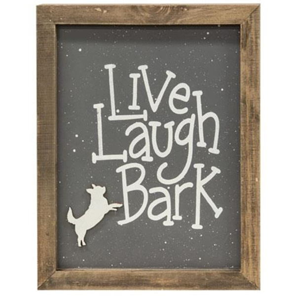 Live Laugh Bark Frame G35314 By CWI Gifts