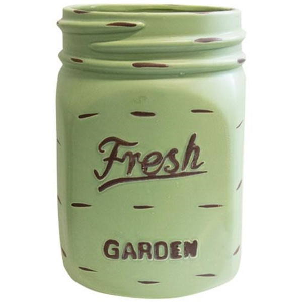 Green Mason Jar Planter GCHD233 By CWI Gifts