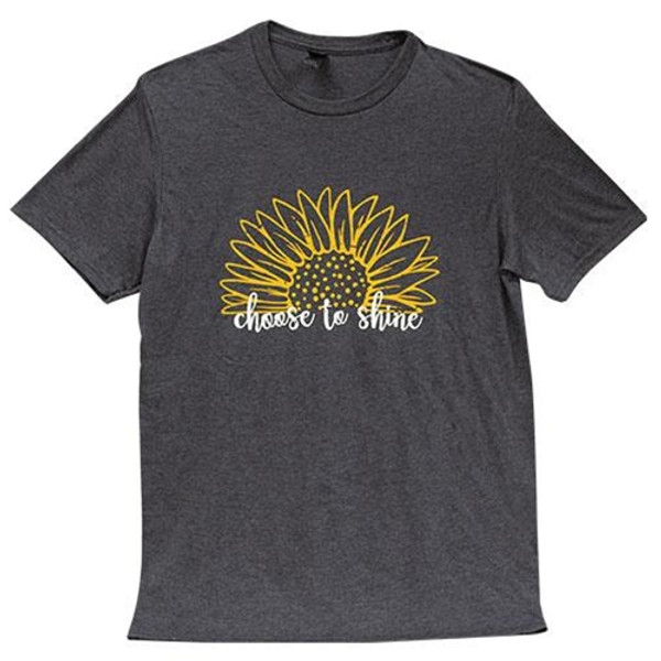 Choose To Shine Sunflower T-Shirt Medium GL69M By CWI Gifts