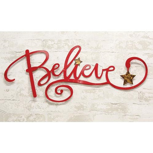 """Believe Wall Sign 29"""" GXX9017 By CWI Gifts"""