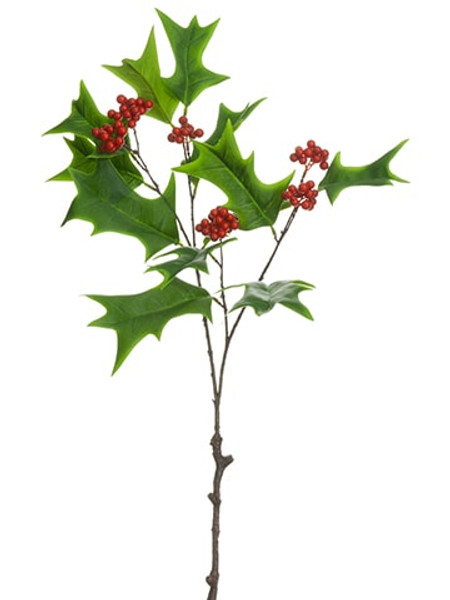 """27"""" Holly Berry Spray Green Red (Pack Of 12) XHS228-GR/RE By Silk Flower"""