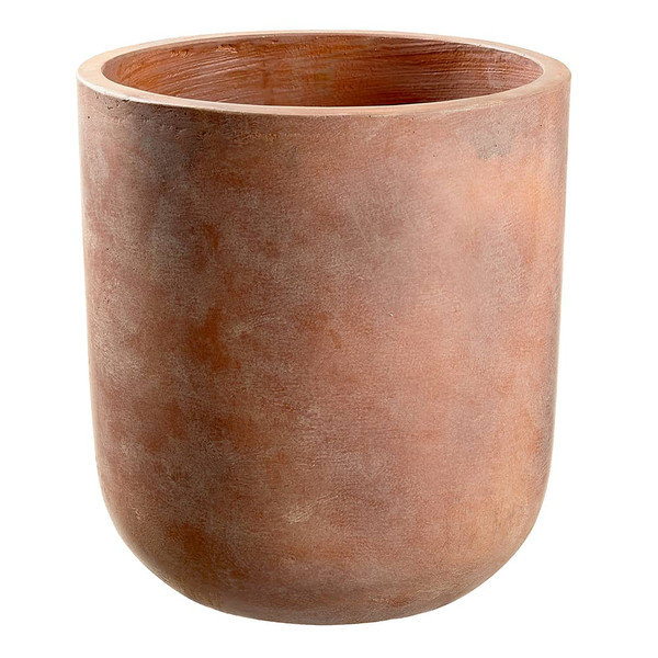 "13.5""H X 13""D Cement Planter Terra Cotta ACE156-TC By Silk Flower"