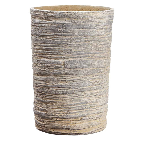 "16.9""H X 11.8""D Round Planter Natural ACF122-NA By Silk Flower"
