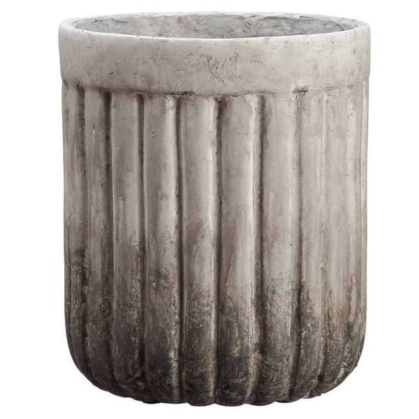 """12""""H X 10""""D Mgo Planter Gray Antique ACZ002-GY/AT By Silk Flower"""