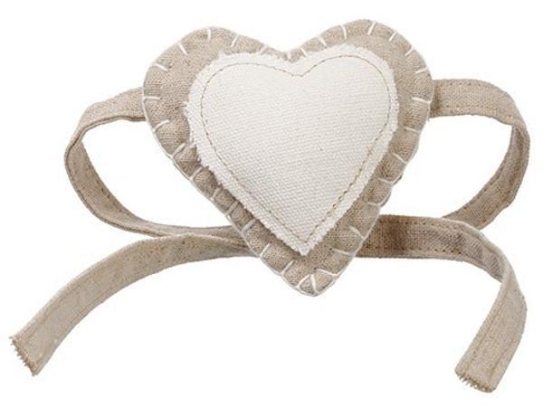"""3.5"""" Heart Napkin Ring Tie Cream Beige 12 Pieces Aan764-Cr/Be"""