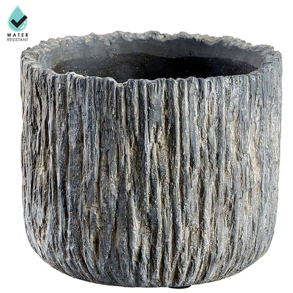 """5.12""""H X 6.1""""D Cement Planter Gray (Pack Of 2) ACE075-GY By Silk Flower"""