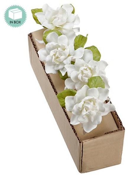 """3.5"""" Gardenia Napkin Ring White 4 Pieces An4503-Wh"""