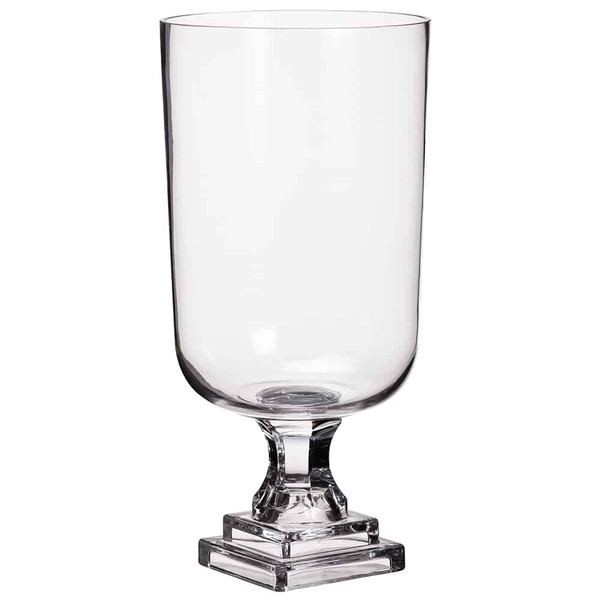 """16.5""""H X 8.5""""D Footed GlassVaseClear (Pack Of 4) ACG633-CW By Silk Flower"""