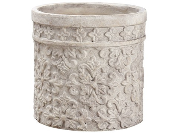"""10.75""""H X 10.75""""D Terra Cotta Planter White (Pack Of 2) ACC673-WH By Silk Flower"""