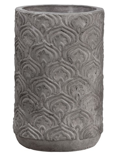 "9.75""H X 6.5""D Terra Cotta Planter Gray (Pack Of 4) ACC683-GY By Silk Flower"