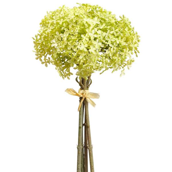 """12"""" Snowball Bundle X4 Light Green (Pack Of 12) FSS317-GR/LT By Silk Flower"""