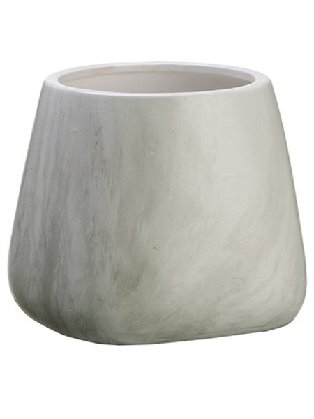 "5.5""H X 6.25""D Terra Cotta Pot White 8 Pieces ACC607-WH By Silk Flower"