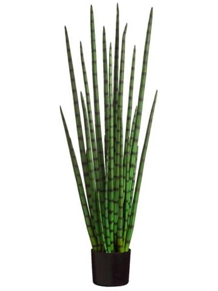 4' Snake Grass In BlackPlastic PotGreen (Pack Of 2) LPG724-GR By Silk Flower